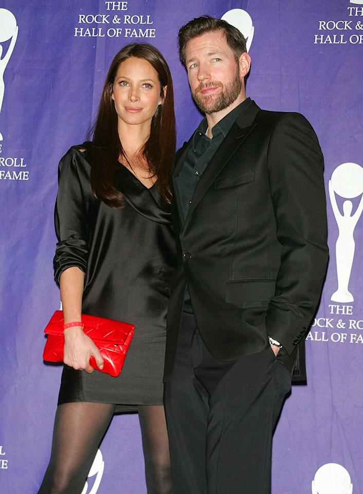 "Christy Turlington and Ed Burns make quite the sleek couple in their all-black ensembles. Jim Spellman/<a href=""http://www.wireimage.com"" target=""new"">WireImage.com</a> - March 10, 2008"