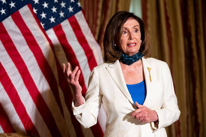 """Democrats say they are committed to, in the words of House Speaker <a href=""""https://www.huffpost.com/news/topic/nancy-pelosi"""" target=""""_blank"""" rel=""""noopener noreferrer"""">Nancy Pelosi</a> (D-Calif.), &ldquo;transformative&rdquo; change. (Photo: Bill Clark via Getty Images)"""