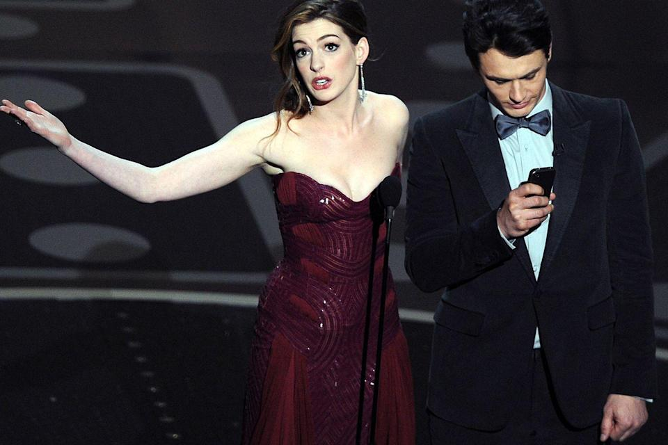 <p>Anne Hathaway and James Franco were widely criticized for their unpopular hosting gig. </p>