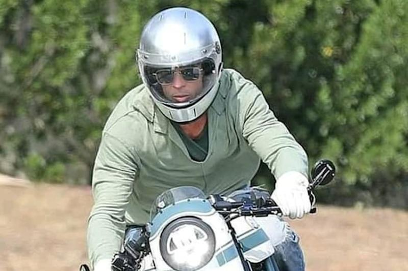 Brad Pitt Snapped Riding Motorcycle as He Visits Ex-wife Angelina Jolie's Residence