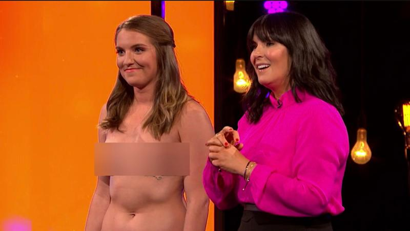 Before picking her date, it was Millie's turn to reveal all (Photo: Channel 4)