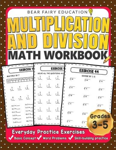 Multiplication and Division Math Workbook. Image via Amazon.