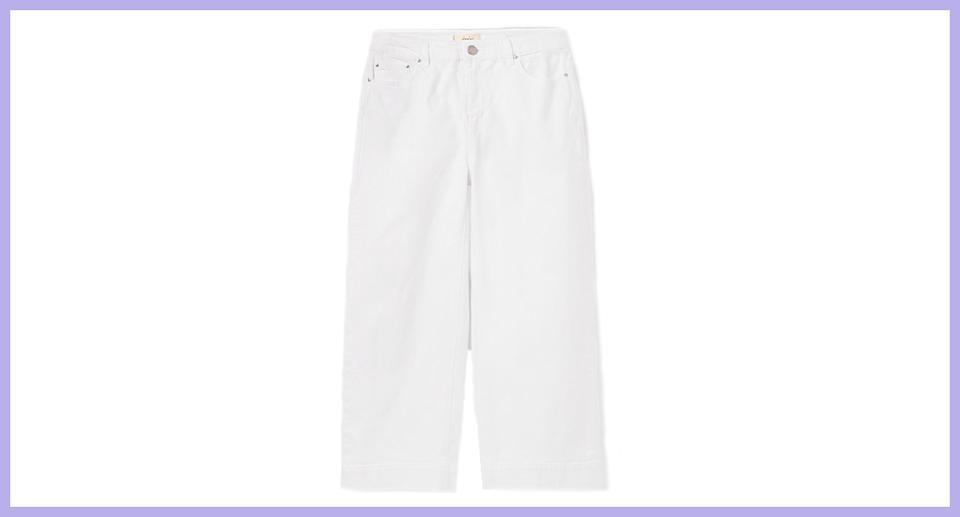 Joules Women's Connie Wide Leg Cropped Jean