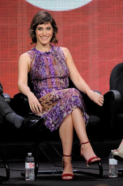 "Actress Lizzy Caplan participates in ""Masters of Sex"" panel at the Showtime Summer TCA on Tuesday, July 30, 2013, at the Beverly Hilton hotel in Beverly Hills, Calif. (Photo by Chris Pizzello/Invision/AP)"