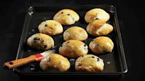 """<p>These sweet, buttery yeast buns are perfect for breakfast or as a snack. Tart currants make a great replacement for raisins, but they're only in season for a short period, so take advantage of this fruit during the early summer.</p> <p><a href=""""https://www.thedailymeal.com/recipes/currant-buns-recipe?referrer=yahoo&category=beauty_food&include_utm=1&utm_medium=referral&utm_source=yahoo&utm_campaign=feed"""" rel=""""nofollow noopener"""" target=""""_blank"""" data-ylk=""""slk:For the Currant Buns recipe, click here."""" class=""""link rapid-noclick-resp"""">For the Currant Buns recipe, click here.</a></p>"""