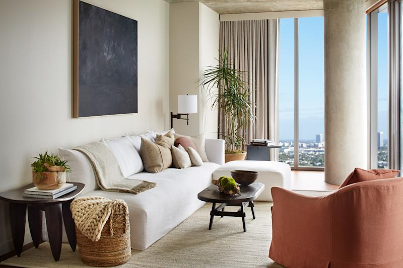The 1 Hotels brand continues to put biophilic design front and center at its properties, like the new West Hollywood location, pictured here.