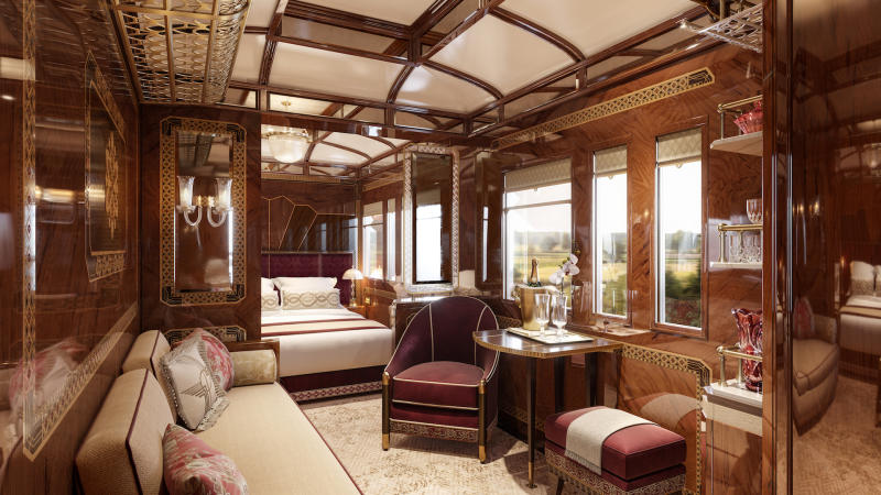 The 'Prague' suite is inspired by the city's theatrical history [Photo: Belmond]