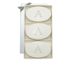 """<p><strong>Pottery Barn</strong></p><p>potterybarn.com</p><p><strong>$35.00</strong></p><p><a href=""""https://go.redirectingat.com?id=74968X1596630&url=https%3A%2F%2Fwww.potterybarn.com%2Fproducts%2Fmonogrammed-oval-soap-set&sref=https%3A%2F%2Fwww.womansday.com%2Flife%2Fg26963417%2Fpersonalized-mothers-day-gifts%2F"""" rel=""""nofollow noopener"""" target=""""_blank"""" data-ylk=""""slk:Shop Now"""" class=""""link rapid-noclick-resp"""">Shop Now</a></p><p>These monogrammed soaps are almost <em>too</em> cute to use! But she should use them because they're made from vegetable-based ingredients designed to leave her skin smooth and soft.</p>"""
