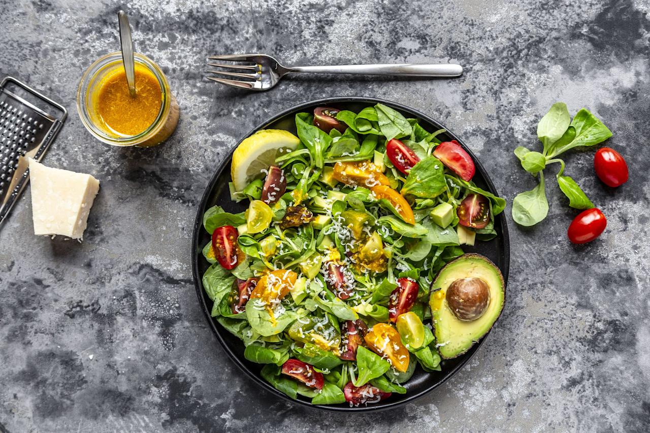 "<p>Sure, if you're on the keto diet you're probably eating more butter, cheese, and meat than the typical dieter, but you absolutely can't forget about <a href=""https://www.womenshealthmag.com/weight-loss/g25656443/keto-vegetables/"" target=""_blank"">veggies</a> (you know, those green things that provide your body with fiber and can help keep you regular-especially on <a href=""https://www.womenshealthmag.com/weight-loss/a26812208/keto-diet-constipation/"" target=""_blank"">the keto diet</a>). </p><p>But I hear you: Veggies can get boring-especially when they're in salad form. That's why it's important to keep some tasty, keto-friendly salad dressings on hand at all times to give your leafy greens a kick. ""Salad dressings are a generally keto-friendly way to add fat and flavor to a low-carb base,"" says Ali Miller, RD, owner of <a href=""https://www.alimillerrd.com/ketosis-class/"" target=""_blank"">Naturally Nourished Virtual Clinic</a>. <br><br>But something to keep in mind: Not all dressings are created equal-you want to examine the label before picking out a new keto-friendly salad dressing. ""For the <a href=""https://www.womenshealthmag.com/weight-loss/a24434337/keto-fat-sources/"" target=""_blank"">fat source,</a> look for extra virgin olive oil, avocado oil, and walnut oil, she says. ""MCT oil can also boost ketone production and help support transition into ketosis.""  </p><p>As for the other ingredients, you want to try to keep them as close to nature as possible-that means lots of herbs, spices, and natural acids (lemon juice, apple cider vinegar), while making sure the dressing takes it easy on artificial colors, flavors, and ingredients like maltodextrin, a stabilizer that can irritate your stomach, says Miller. Keep an eye out for added sugars as well, she says, since those show up in lots of ""light"" dressings and make up for lack of flavor. </p><p>Whew-that's a lot to remember. To get you started, here are eight keto-friendly salad dressings that will make you actually look forward to your meal prepped keto lunch.</p>"