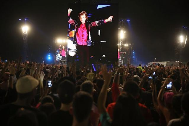 The Rolling Stones on stage at a free concert last May in Havana, Cuba. (Photo: Joe Raedle/Getty Images)