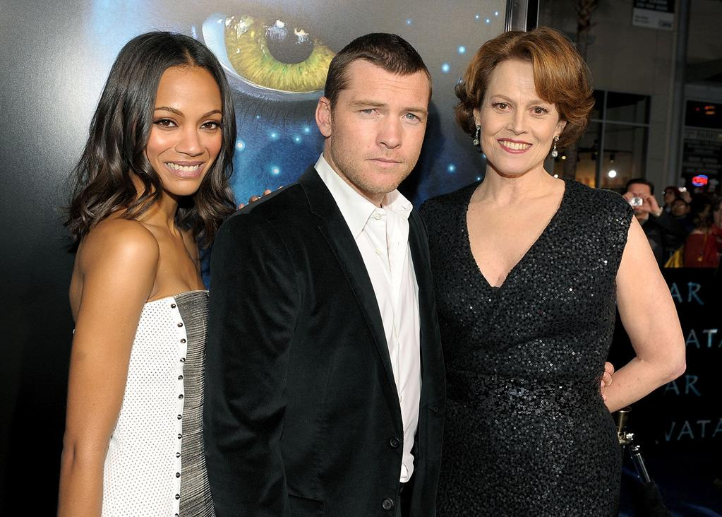 "<a href=""http://movies.yahoo.com/movie/contributor/1800362233"">Zoe Saldana</a>, <a href=""http://movies.yahoo.com/movie/contributor/1800424136"">Sam Worthington</a> and <a href=""http://movies.yahoo.com/movie/contributor/1800015109"">Sigourney Weaver</a> at the Los Angeles premiere of <a href=""http://movies.yahoo.com/movie/1809804784/info"">Avatar</a> - 12/16/2009"