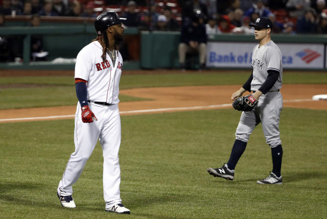 The Red Sox and Yankees were able to let cooler heads prevail after Wednesday's brawl. (AP Photo/Winslow Townson)
