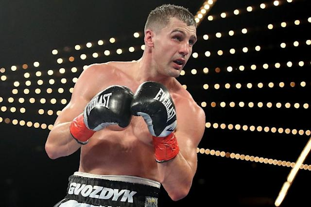 Oleksandr Gvozdyk (pictured) knocked out Adonis Stevenson with 13 seconds remaining in the 11th round to capture the World Boxing Council light heavyweight championship in Quebec City, on December 1, 2018 (AFP Photo/Abbie Parr)