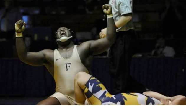 "Tracy Woodward's original high school wrestling photo entitled ""State Champion"" — The Washington Post"