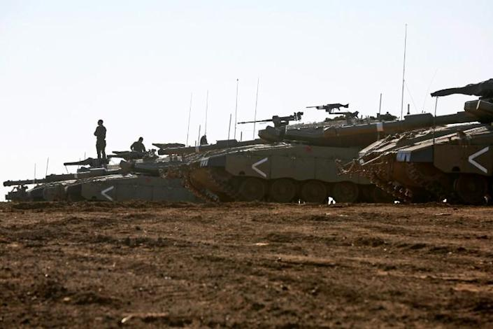 Israeli forces, seen here in the annexed Golan Heights, have launched hundreds of attacks in Syria, often targeting Iran-backed forces (AFP Photo/JALAA MAREY)