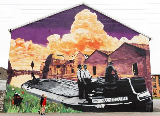 Peter Martin mural in Athy