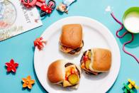 """These mini burger patties are versatile and family-friendly. Make a big batch to freeze and then serve all week long as sliders, on grain bowls, in pita sandwiches, and more. <a href=""""https://www.epicurious.com/recipes/food/views/mini-beef-and-mushroom-patties?mbid=synd_yahoo_rss"""" rel=""""nofollow noopener"""" target=""""_blank"""" data-ylk=""""slk:See recipe."""" class=""""link rapid-noclick-resp"""">See recipe.</a>"""