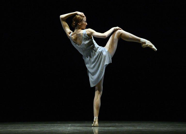 The Bolshoi Ballet's Svetlana Zakharova performs a dress rehearsal in New York on October 18, 2012