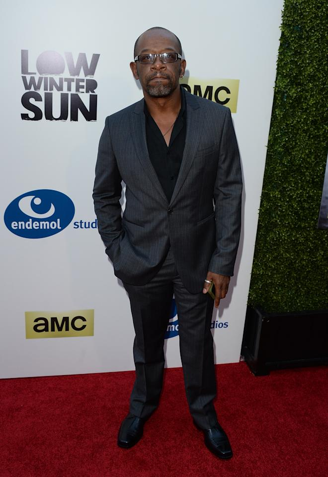 HOLLYWOOD, CA - JULY 25: Actor Lennie James attends the AMC's New Series 'Low Winter Sun' Los Angeles premiere held at ArcLight Hollywood on July 25, 2013 in Hollywood, California. (Photo by Jason Merritt/Getty Images)