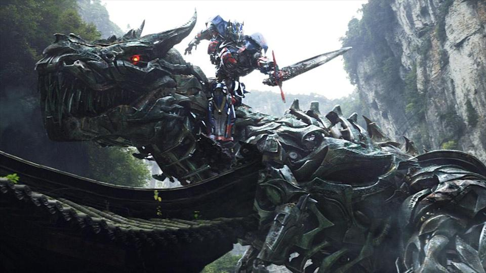 Optimus Prime and Grimlock in 'Transformers: Age of Extinction' (Photo: Paramount Pictures)