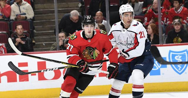 Blackhawks fall 5-3 to Capitals in Kirby Dach's NHL debut