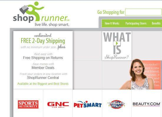 """<em>Free two day shipping service </em> <strong>December 17th</strong> is <a href=""""http://www.freeshippingday.com/"""">Free Shipping Day</a>, when hundreds of stores waive mailing costs and promise to get all the gifts where they need to go by Christmas Eve. <a href=""""http://www.shoprunner.com/"""">ShopRunner</a> is a service that makes the whole year """"free shipping day"""" ... sort of. You can sign up for a 30-day free trial of ShopRunner, and it will send your stuff in 48-hours at no charge and provide free shipping on returns. If you cancel it before that initial 30-days, they give you 90-days more free. Use it three times in those three months, and you get the whole year (normally $79) free."""