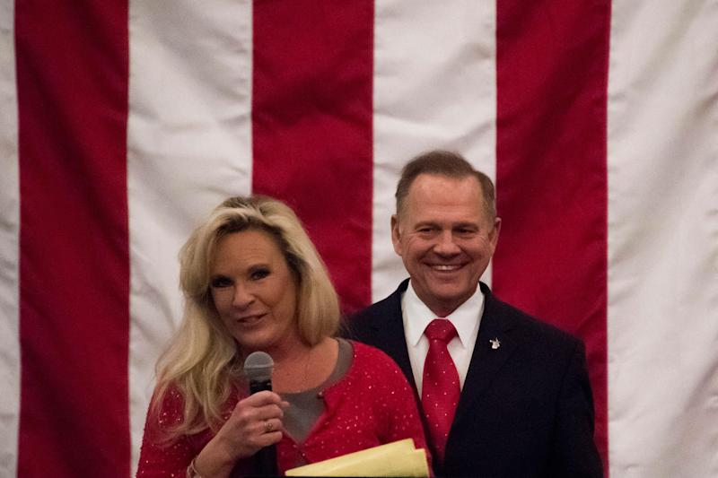Kayla Moore was her husband's strongest supporter: Getty
