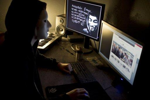 "Hacking group Anonymous is believed to be a loosely affiliated network of ""hacktivists"""