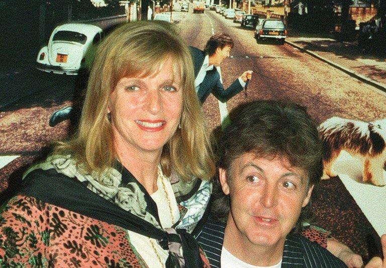 Linda and Paul McCartney in Paris on October 13, 1993