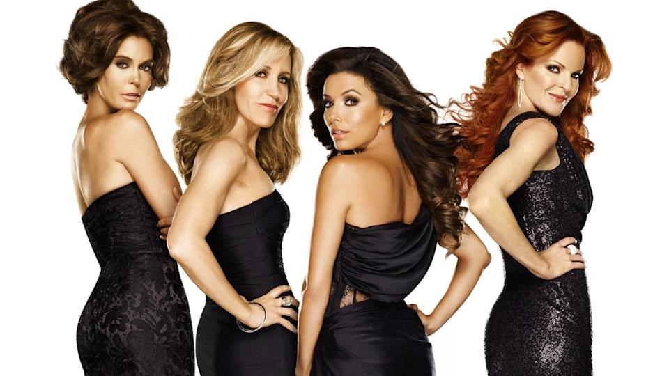 <p> <strong>Number of episodes:</strong>&#xA0;180 episodes </p> <p> It&#x2019;s amazing, really, that there was never a pandemic-themed Desperate Housewives episode (or entire season). The show, about the lives and lies of a bunch of women living on a cursed cul-de-sac, got into pretty much everything else: murder, deception, tornadoes, plane crashes, fires, dark secrets. After friend Mary Alice (Brenda Strong) kills herself, her friends work to figure out&#xA0;<em>why&#xA0;</em>someone with such a perfect life would want to die. From then on, Wisteria Lane is a hotbed for shady activity, with nothing on the perfect street as it seems. Oh, and Mary Alice&#x2019;s omnipresent ghost narrates the series. </p> <p> Desperate Housewives<em>&#xA0;</em>is perfect for lockdown viewing because it is so utterly removed from any version of reality that any of us lives in. While it does deal with some relatable issues, like grief and heartbreak, it mostly exists on a plane that is so absurd it&#x2019;s entirely distracting from your own issues. Plus, your own stresses somewhat pale in comparison.&#xA0; </p>