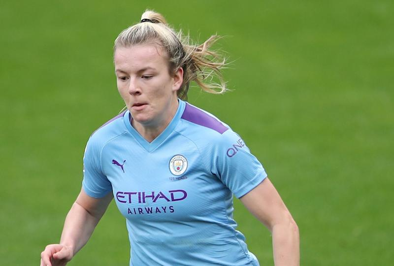 Manchester City's Lauren Hemp scored what proved to be the winner against Arsenal in Cushing's last game in charge Action Images via Reuters/Molly Darlington