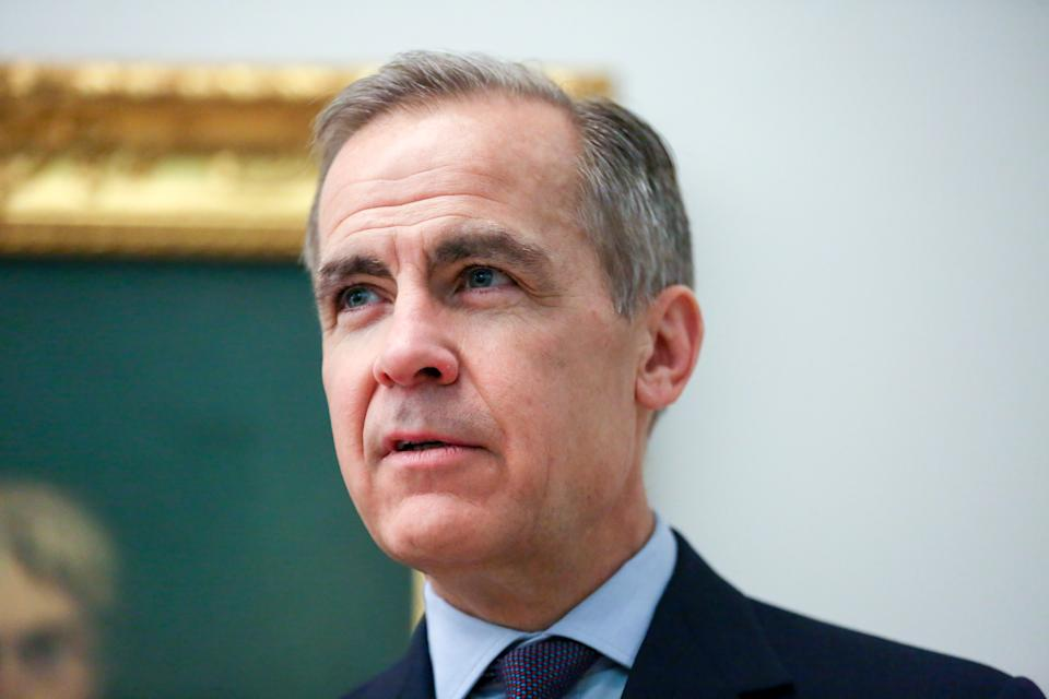 Mark Carney, the Governor of the Bank of England at the Tate Britain art gallery in London as the new 20-pound banknote enters into circulation on the 20th February 2020. (Photo by Steve Taylor / SOPA Images/Sipa USA)