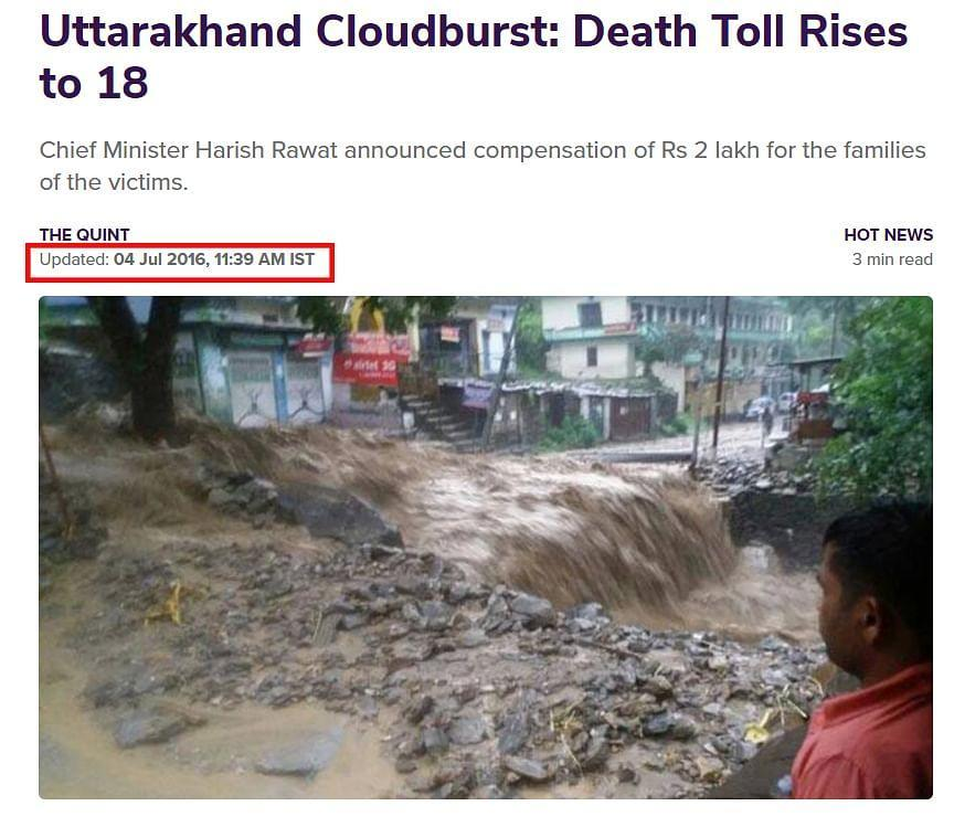 """<div class=""""paragraphs""""><p>A link to the story can be found <a href=""""https://www.thequint.com/news/hot-news/uttarakhand-cloudburst-30-dead-alaknanda-river-above-danger-mark#read-more"""" rel=""""nofollow noopener"""" target=""""_blank"""" data-ylk=""""slk:here"""" class=""""link rapid-noclick-resp"""">here</a>.</p></div>"""