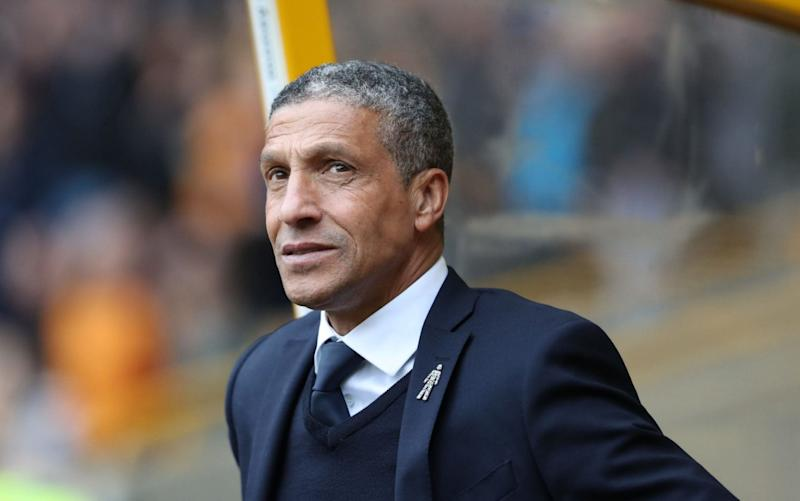 Chris Hughton's Brighton are on the brink of promotion to the Premier League - Rex Features