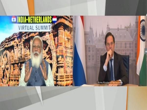 Prime Minister Narendra Modi and his Dutch counterpart Mark Rutte during the India-Netherlands Virtual Summit on Friday.