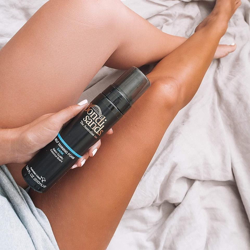 <p>Get a bronzed look with the <span>Bondi Sands Self Tanning Foam</span> ($24). It currently boasts over 2,900 positive reviews from customers saying its lightweight texture left them with an instant glow.</p>