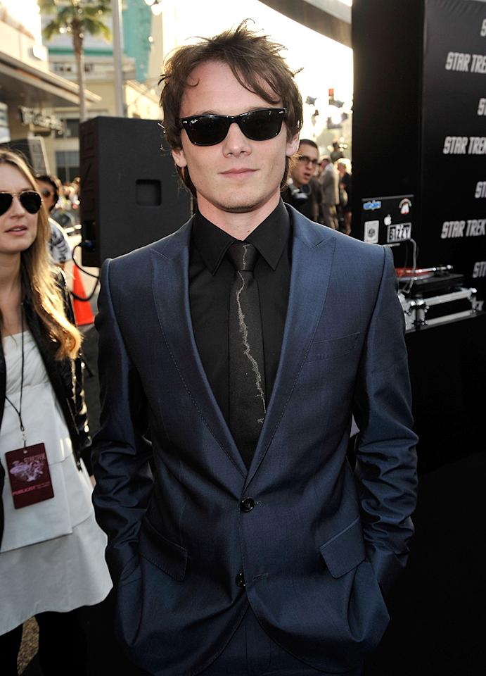 """<a href=""""http://movies.yahoo.com/movie/contributor/1804848614"""">Anton Yelchin</a> at the Los Angeles premiere of <a href=""""http://movies.yahoo.com/movie/1809752801/info"""">Star Trek</a> - 04/30/2009"""