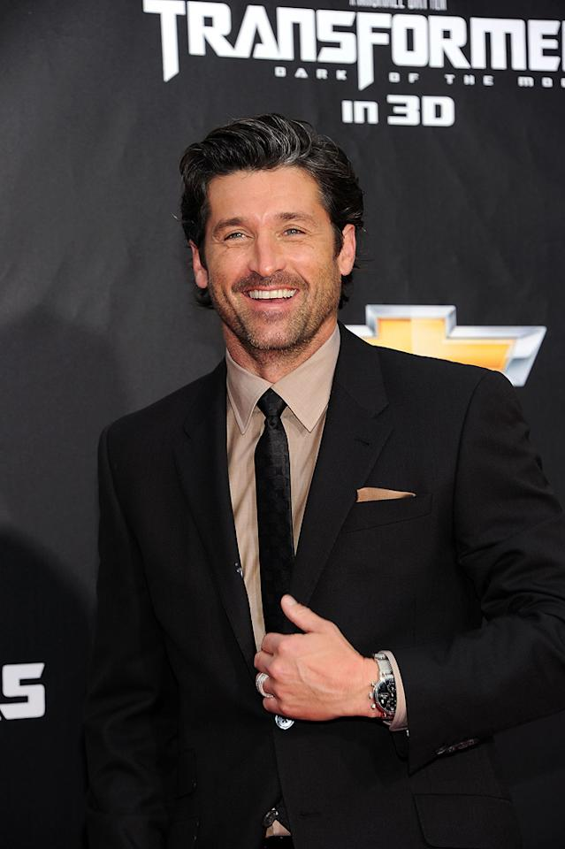 """<a href=""""http://movies.yahoo.com/movie/contributor/1800043748"""">Patrick Dempsey</a> at the New York City premiere of <a href=""""http://movies.yahoo.com/movie/1810159115/info"""">Transformers: Dark of the Moon</a> on June 28, 2011."""