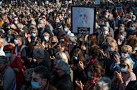 Thousands also demonstrated in the Mediterranean city of Marseille