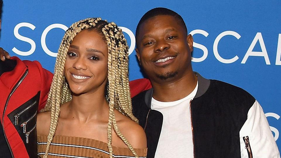Tiffany Boone and Jason Mitchell attend a screening and Q&A for 'The Chi' on Day 1 of the SCAD aTVfest 2018 on February 1, 2018 in Atlanta, Georgia. (Paras Griffin/Getty Images for SCAD aTVfest 2018 )
