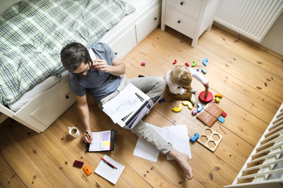 Our backs and necks are being impacted by our work at home postures. (Getty Images)