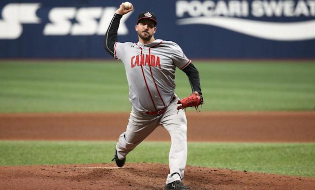 Phillippe Aumont has a history of representing Canada in international play. (Chung Sung-Jun/Getty Images)