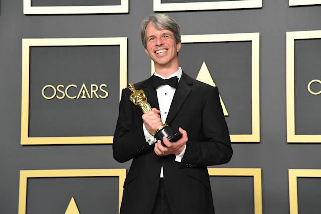 """Filmmaker Marshall Curry, winner of the Live Action Short Film award for """"The Neighbors' Window,"""" poses in the press room during the 92nd Annual Academy Awards at Hollywood and Highland on February 09, 2020 in Hollywood, California. (Photo by Jeff Kravitz/FilmMagic)"""