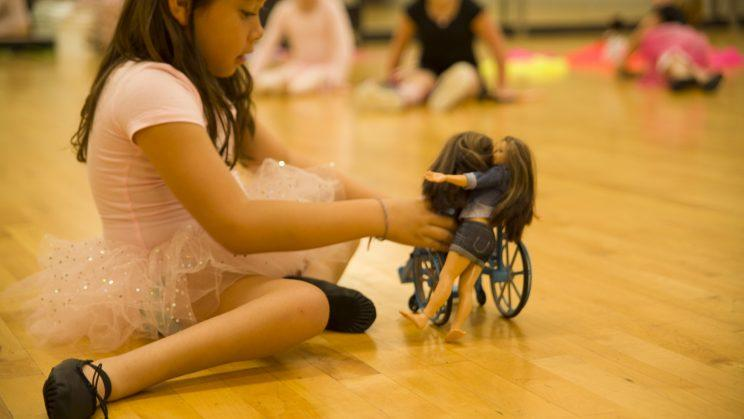 Kids at Ayita Wheelchair Dance tested the new toy. (Photo: Nickolay Lamm)