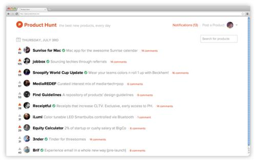 Product Hunt screenshot