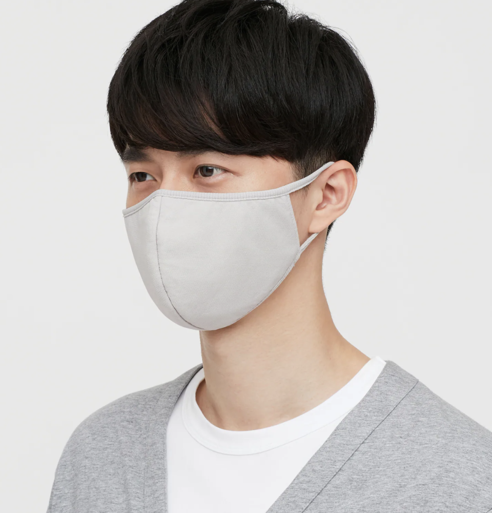 11 breathable masks to wear during your workout: Uniqlo AIRism Face Mask in Gray (Photo via Uniqlo)