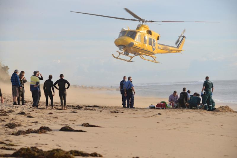 The surfer was transferred to Royal Perth Hospital by helicopter where he was said to be in critical condition after undergoing surgery (AFP Photo/Marta Pascual Juanola )