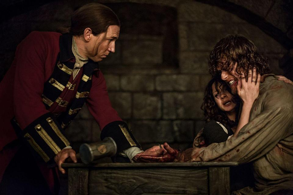 """<p>The delicate, intricate work made for a <a href=""""http://www.vulture.com/2015/05/outlander-tobias-menzies-on-going-full-frontal.html"""" rel=""""nofollow noopener"""" target=""""_blank"""" data-ylk=""""slk:very believable scene."""" class=""""link rapid-noclick-resp"""">very believable scene.</a> </p>"""