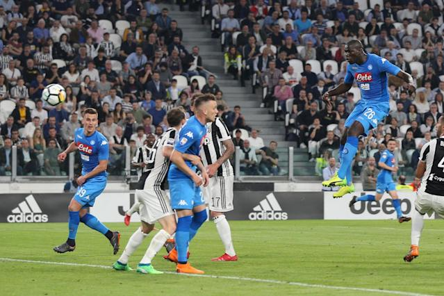 Kalidou Koulibaly's late winner at Juventus triggered 'earthquake' spike in Naples amid wild celebrations back home
