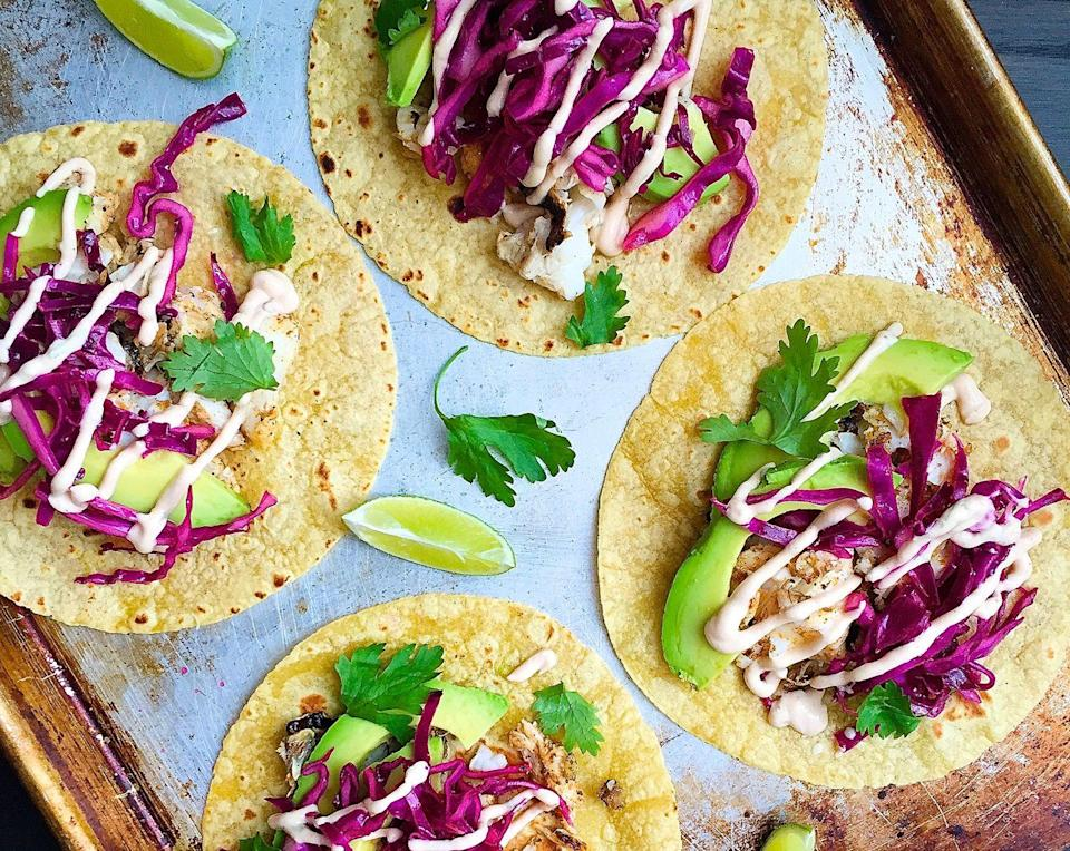 "<p>Prepare for your new go-to taco topping: chipotle crema.</p><p>Get the recipe from <a href=""https://www.delish.com/cooking/recipe-ideas/recipes/a43489/grilled-cod-tacos-chipotle-crema-recipe/"" rel=""nofollow noopener"" target=""_blank"" data-ylk=""slk:Delish"" class=""link rapid-noclick-resp"">Delish</a>.</p>"
